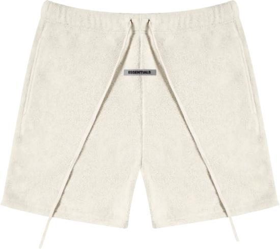 Fear Of God Essentials Ivory Fleece Shorts
