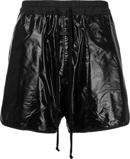 Fear Of God Glossy Black Track Shorts