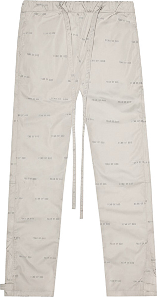 Fear Of God Ivory Allover Logo Trackpants