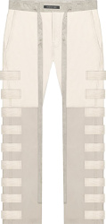 Fear Of God Ivory Leather And Nylon Side Flap Pants
