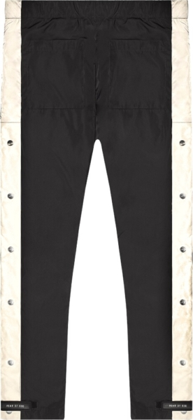 Fear Of God Side Stripe Snap Black Cargo Pants