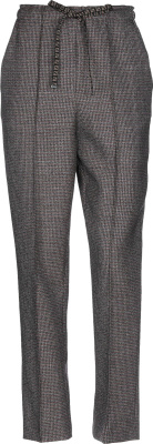 Fedni Grey Check Drawstring Pants