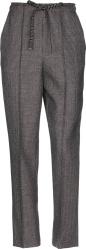 Fedni Grey Check Drawstring Pants