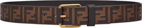Fendi Brown 'forever Fendi' Embossed Belt