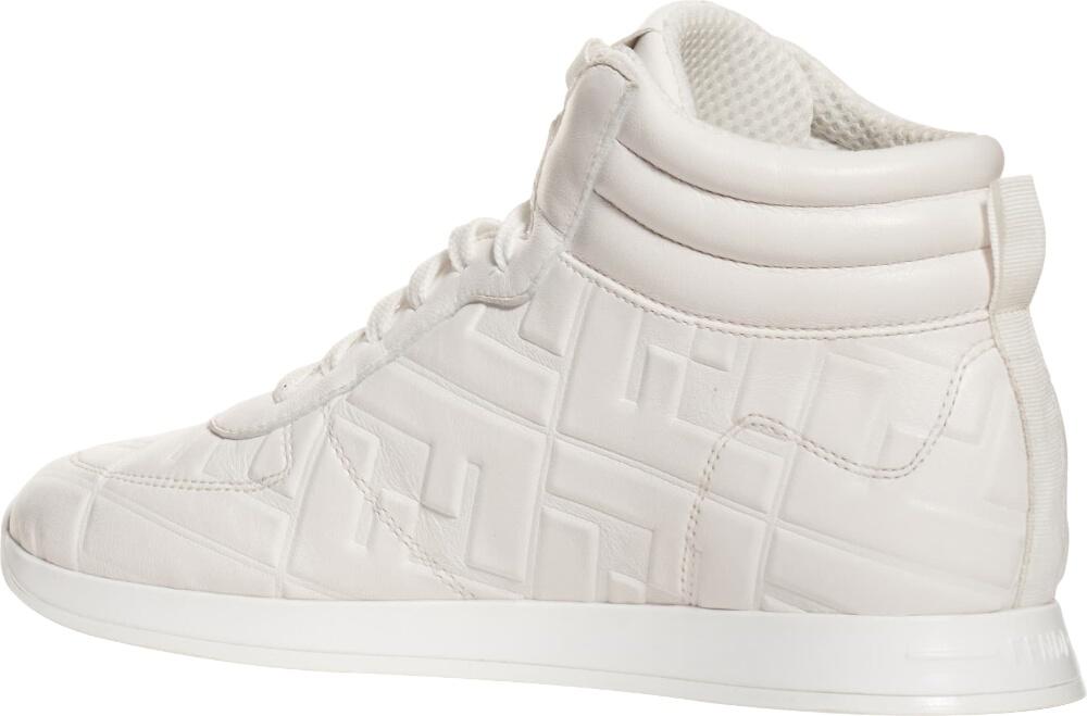 Fendi White Leather High Tops