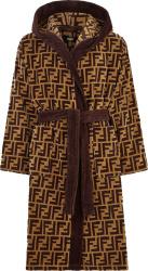 Fendi Beige And Brown Ff Bath Robe