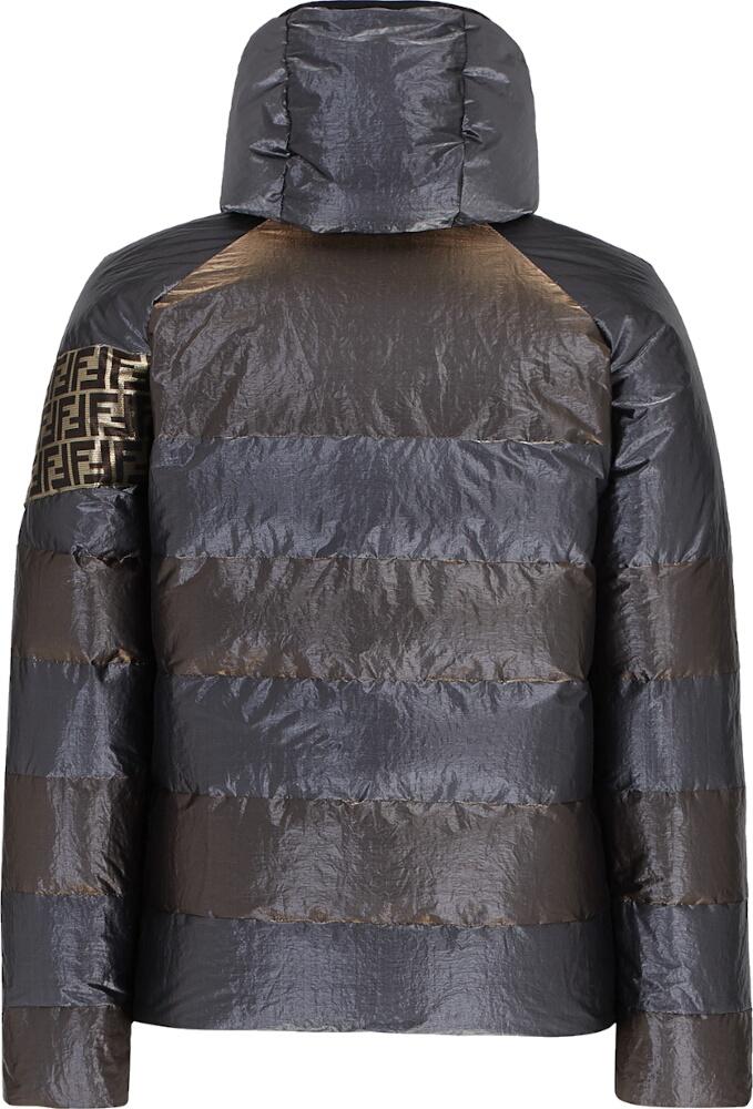 Fendi Black And Brown Stripe Puffer