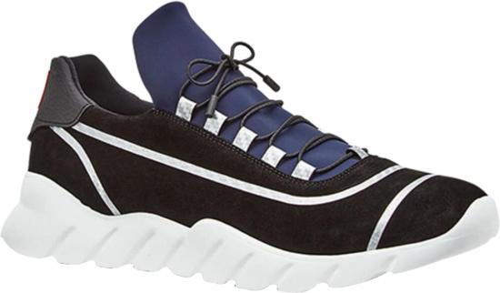 Fendi Black Blue Runner Sneakers