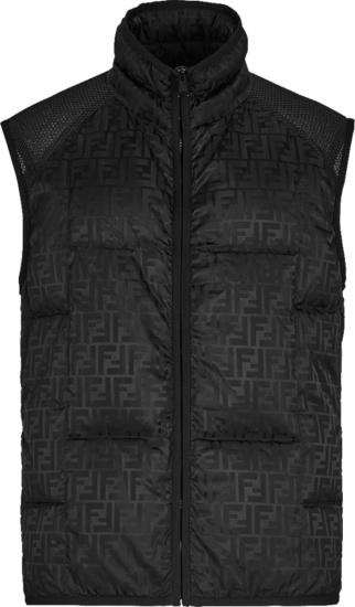 Fendi Black Ff Puffer Vest