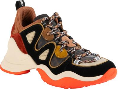 Fendi Black Orang Whtie Sneakers