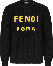 Fendi Black Yellow Fendi Roma Sweater Fzz373aea1f0qa1