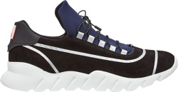 Fendi Blue Black Runner Sneakers