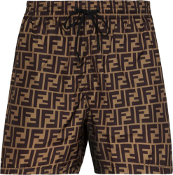 Fendi Brown Ff Swim Shorts