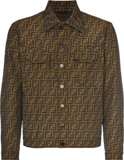 Fendi Brown Monogram Denim Jacket