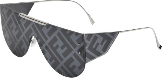 Fendi Dark Grey Ff Lens Logo Fabulous 2 Sunglasses