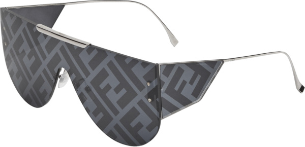 Fendi Dark Grey Ff Lens Logo Fabulous 2 Sunglasses