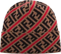 Fendi Ff Intarsia Knit Beanie