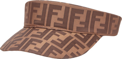 Fendi Ff Motif Brown Canvas Visor