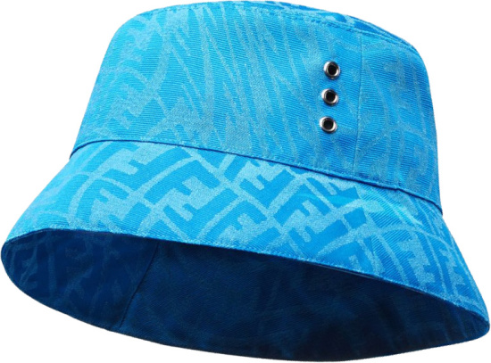 Fendi Light Blue Ff Vertigo Bucket Hat