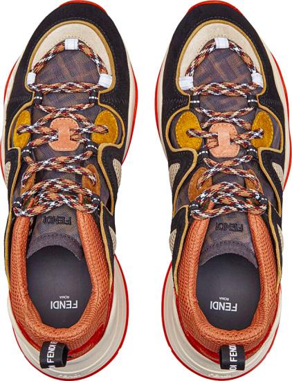 Fendi Mulicolor Ffluid Sneakers Top