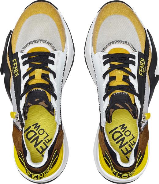 Fendi Multicolor Zip Flow Sneakers