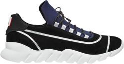 Fendi Navy And Black Suede Runner Sneakers