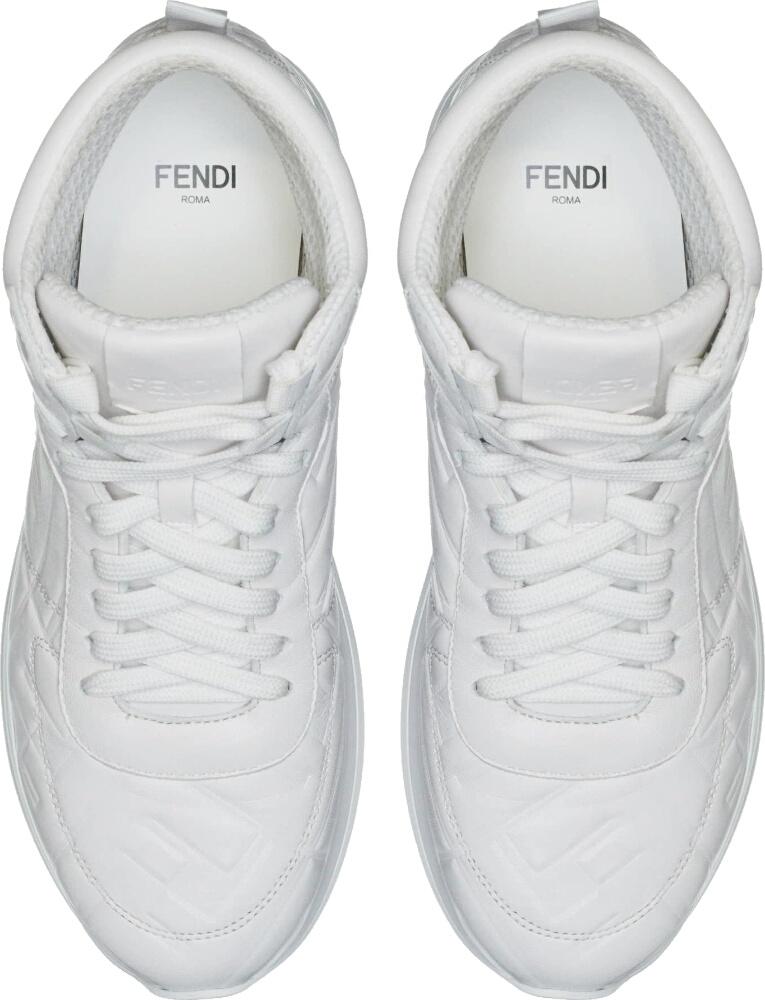 Fendi White Ff High Tops