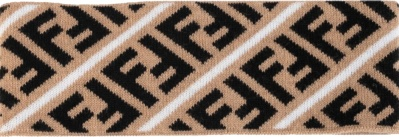 Fendi White Stripe Ff Headband