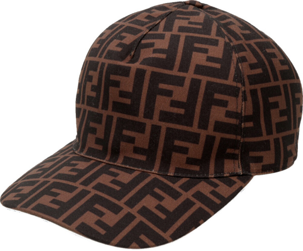 Fendi White Trim Ff Hat