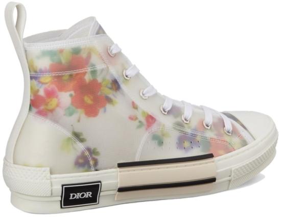 Floral Print High Top Sneakres