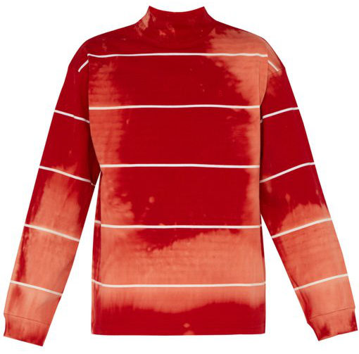 Future Stained Red Turtleneck With White Stripes Worn In Music Video