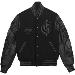 G Eazy Wearing A Black Varsity Jacket