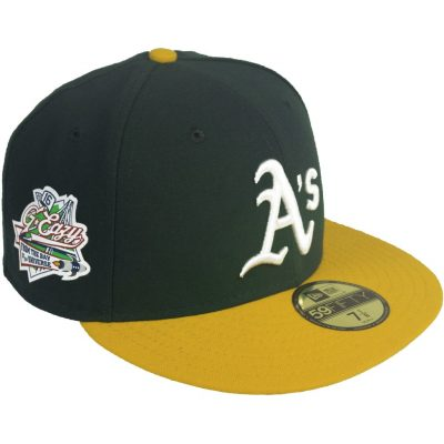 G Eazy Wearing Green And Yellow New Era Oakland Athletics 59fifty
