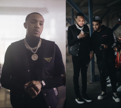 G Herbo Wearing A Prada Padded Vest With Matching Sneakes And Silver And White Watch
