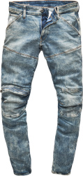 G Star G Star Light Blue '5620 Zip Knee' Jeans