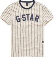 Navy Pinstripe White T-Shirt