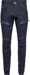 Indigo Thigh Zip 'Air Defense' Jeans