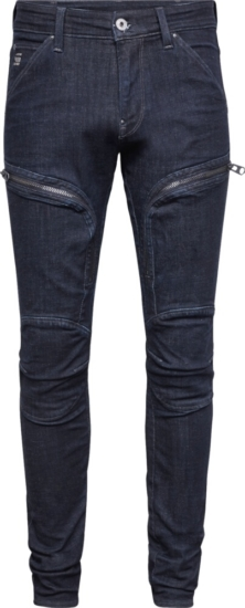G Star Thigh Zip Detail Jeans