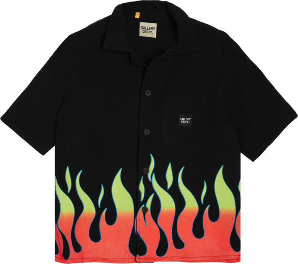 Gallery Dept Black And Flame Print Shirt