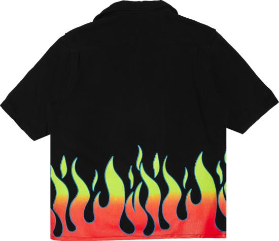 Gallery Dept Black Parker Flame Shirt