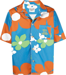 Gallery Dept Blue And Orange Floral Hawaiian Shirt