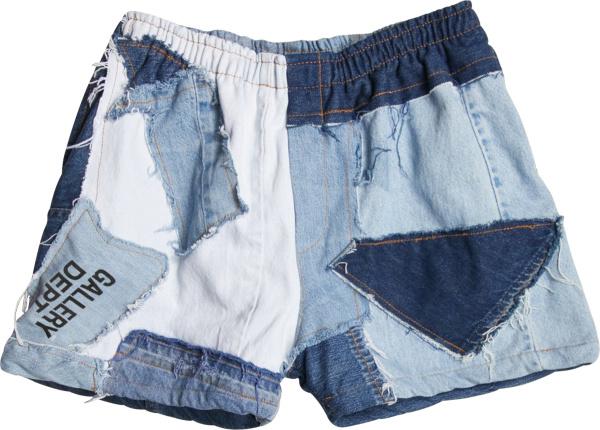 Gallery Dept Blue Patchwork Zuma Shorts