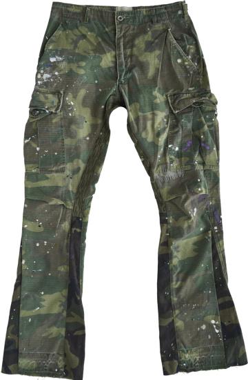 Gallery Dept Camo Paint Splatter Flared Pants