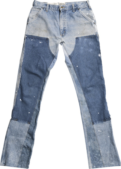 Gallery Dept Contrast Panel Paint Spaltter Flared Jeans