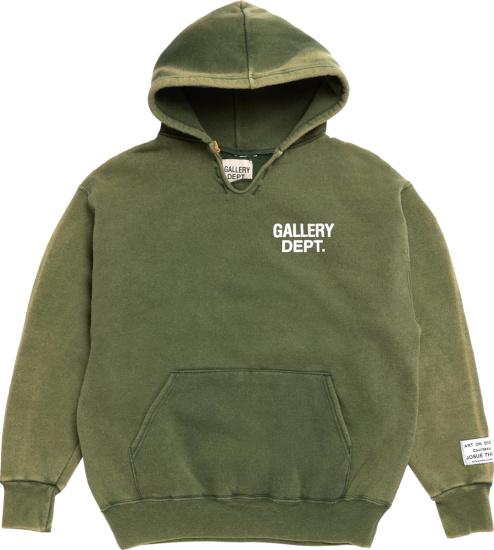 Gallery Dept Dark Green Vintage Dg Hoodie