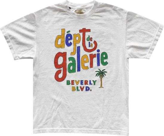 Gallery Dept Dept De La Galerie Print White T Shirt