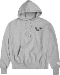 Gallery Dept Grey Logo Print Hoodie