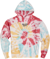 Gallery Dept Red Blue And Yellow Spiral Tie Dye Hoodie