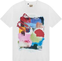 Gallery Dept White And Multicolor Paint Brush Quantum T Shirt