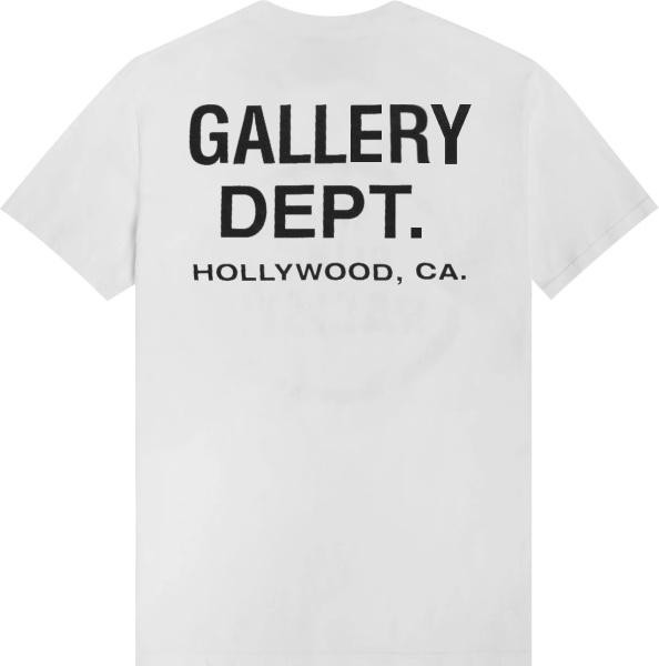 Gallery Dept White Hollywood Logo Print T Shirt